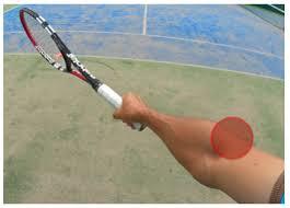 バックハンドテニス肘1